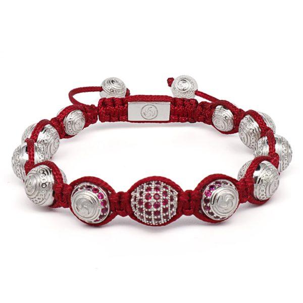 Браслет Шамбала Karma Jewels KJ-18 из серебра