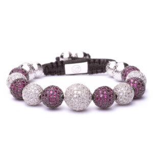 Браслет Шамбала Karma Jewels из серебра KK-12